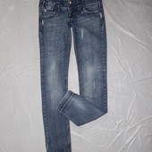 XS-S, поб 44-46, крутые джинсы узкачи с потертостями скинни Tally Weijl
