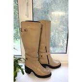 Новинка стильные кожаные сапоги деми/зима код: ИН  79-603