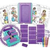 Набор для юных дизайнеров Fashion Plates travel kit. США.