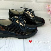 туфли для девочки на шнурку
