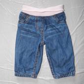 3-6 мес., р. 62-68, джинсы на подкладке F&F, пояс и низ на резинке