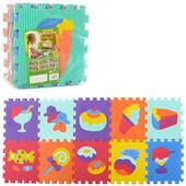Коврик пазл для детей Сладости текстурный  М3516 , м 3516 мозаика