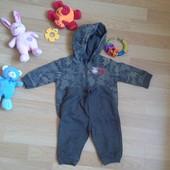 Утепленный костюм на мальчика возрастом 3- 6 месяцев. Хлопок+ флис