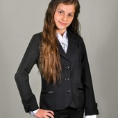 Школьный пиджак Манжет, размеры 122-152, черный