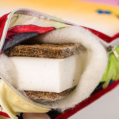 Детский матрас Люкс  - 7 см (кокос, поролон, кокос)