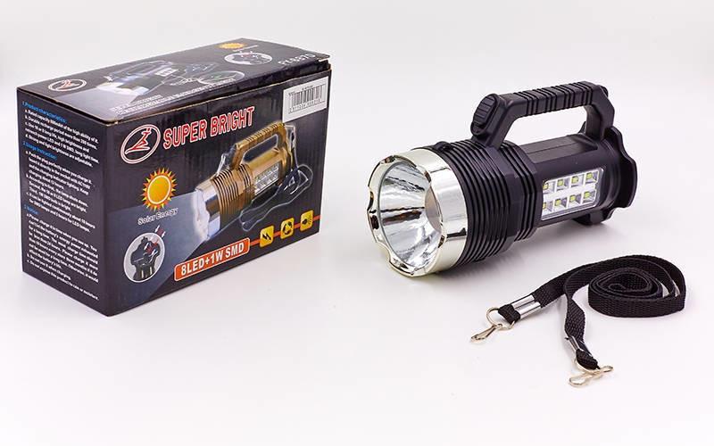 Фонарик ручной кемпинговый для машины 6870: 8+1 LED, длина 17см (пластик) фото №1