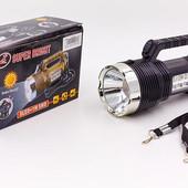Фонарик ручной кемпинговый для машины 6870: 8+1 LED, длина 17см (пластик)