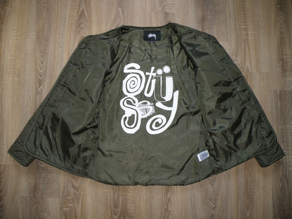 Куртка stussy quilted military liner jacket фото №10