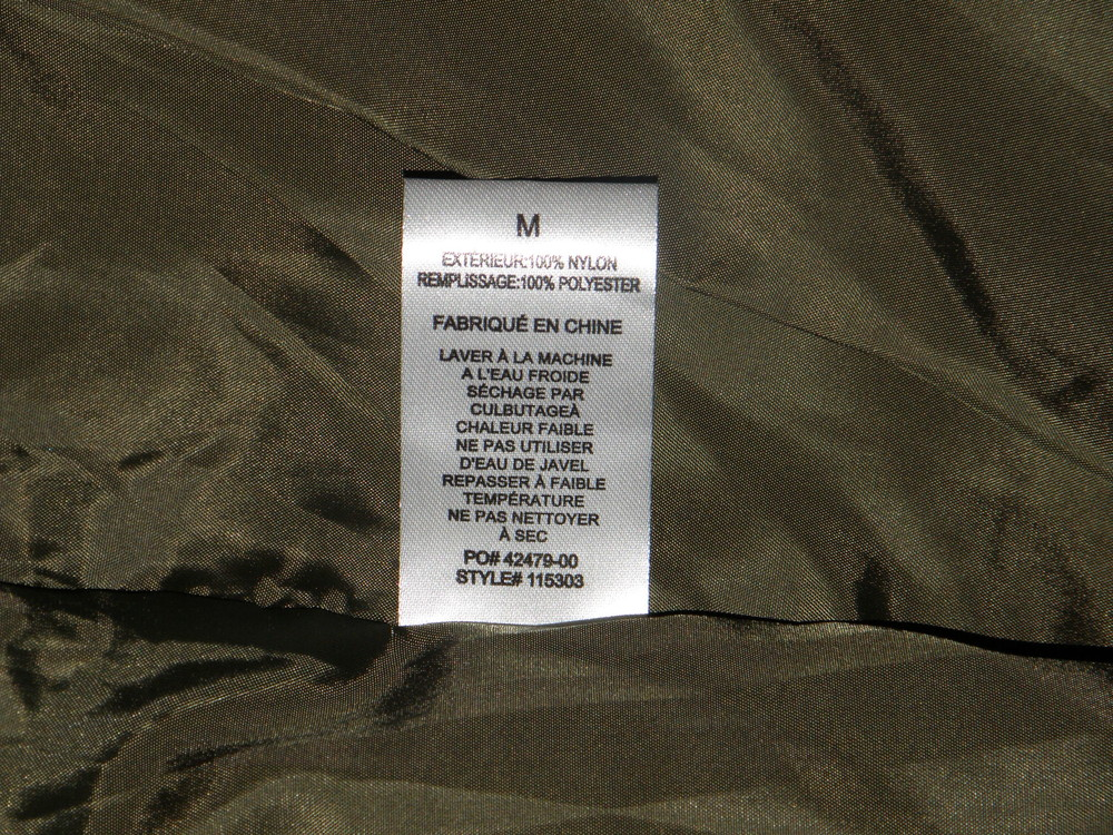 Куртка stussy quilted military liner jacket фото №11