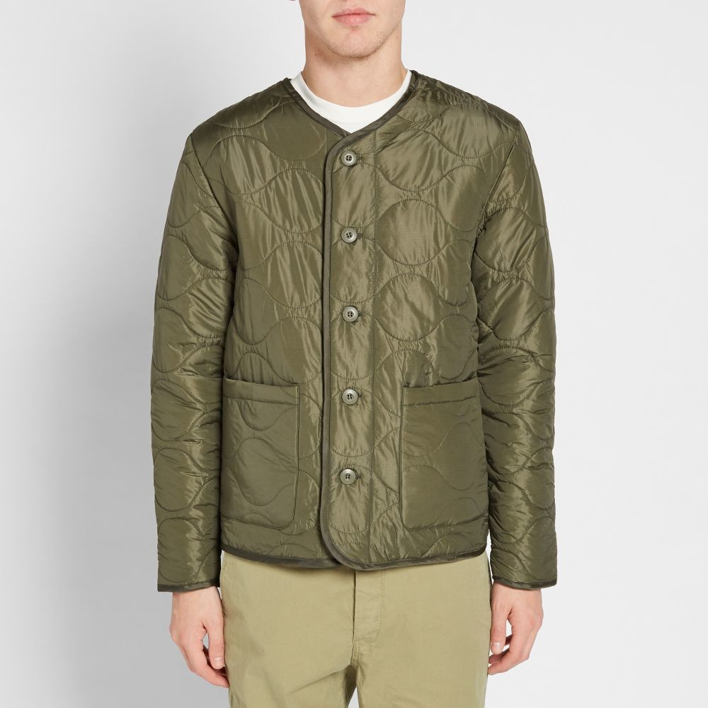 Куртка stussy quilted military liner jacket фото №1