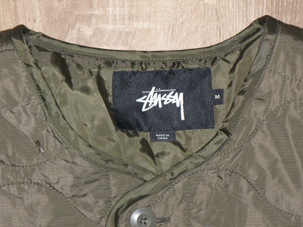 Куртка stussy quilted military liner jacket фото №6