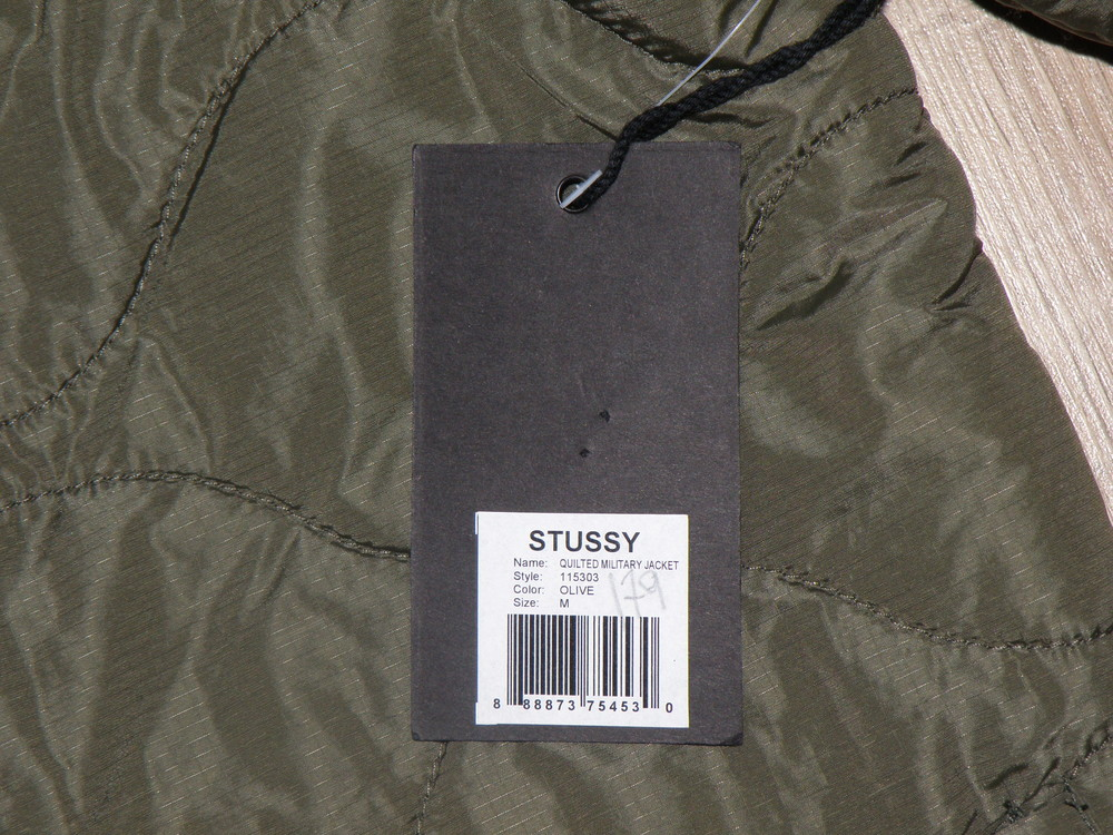 Куртка stussy quilted military liner jacket фото №8