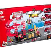 Паркинг Пожарная станция, 4 машины, в коробке 46,5*5,5*26,5см