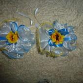Банты для волос, резинки декорированные