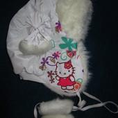 Зимняя шапка для девочки на 1,5-3 года