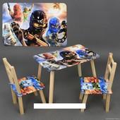 """Столик и два стульчика деревянные """"Ниндзяго"""" С 103"""