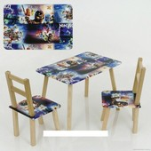 """Столик и два стульчика деревянные """"Ниндзяго"""" С 083"""