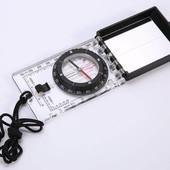 Компас жидкостный планшетный в закрытом корпусе с зеркалом DC45-6С: d-55мм, размер 100х63мм
