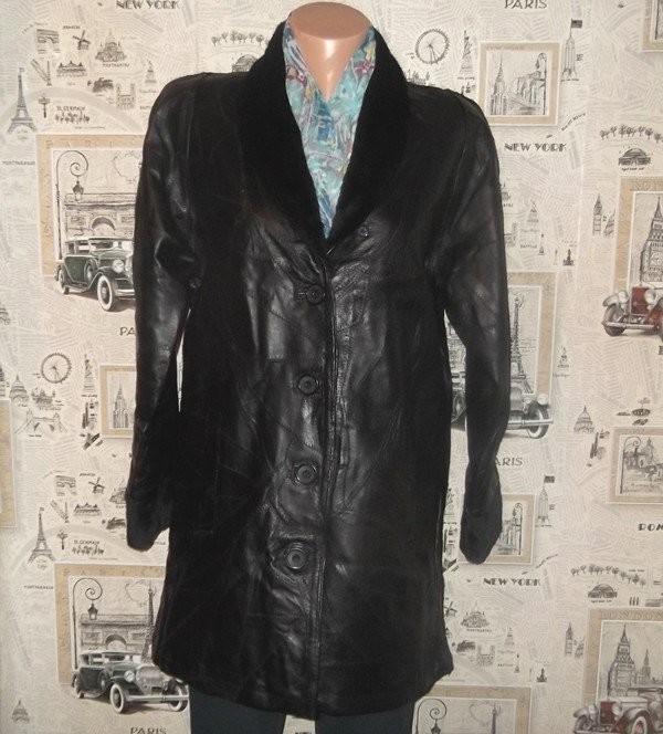 новая 100%кожаная куртка.Anne de Lancay/Оригинал!Франция фото №1