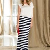 длинная юбка в морском стиле