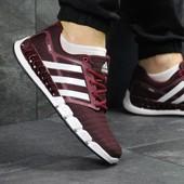 Кроссовки мужские сетка Adidas Climacool burgundy