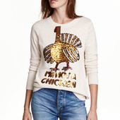 Джемпер свитер, H&M, L с пайетками