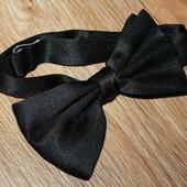 Бабочка галстук синего цвета