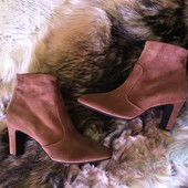 Ботинки із натуральної замші від Minelli,розмір 40,стелька 26,5