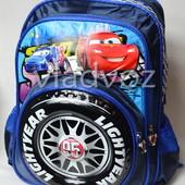 Школьный рюкзак для мальчиков Тачки красный 3441