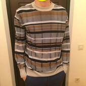 Мужской легкий пуловер джемпер  размер М хлопок и акрил