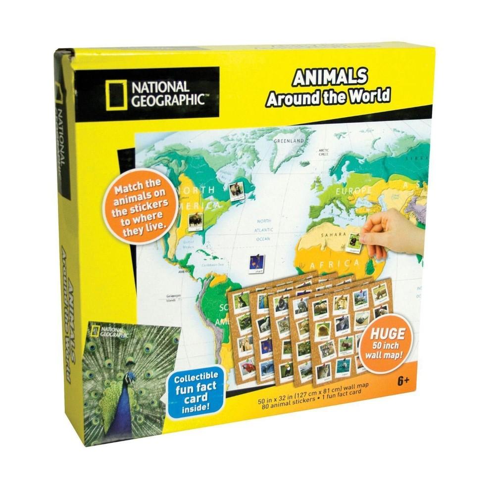 National Geographic Атлас животных мира с наклейками фото №1