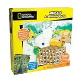 National Geographic Атлас животных мира с наклейками