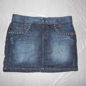 XL, поб 52, юбка джинсовая с потертостями Lindex
