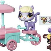 Набор Городской транспорт littlest pet shop от Hasbro Маленький Зоомагазин кот кошка стояка пет шоп