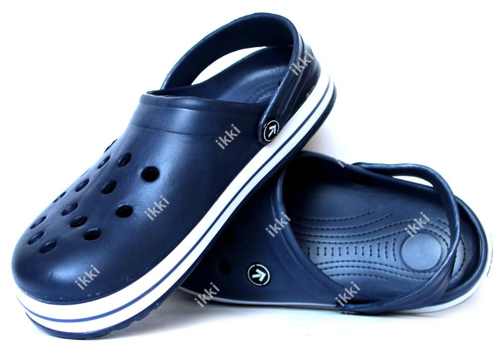 45 р Кроксы мужские шлепанцы синего цвета (918с) фото №1