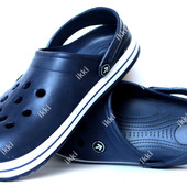 Кроксы мужские шлепанцы синего цвета (918с)