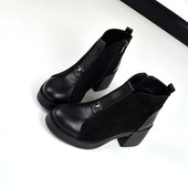 Ботинки на каблуке Кожа и замш
