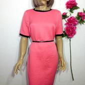 Платье фактурное миди прямого силуэта р 12 marks&spencer
