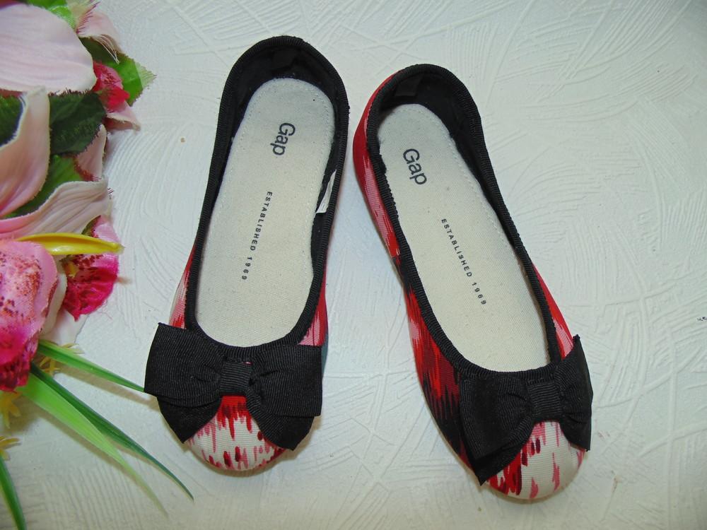 Гламурные балетки gap 28р,ст 17,5 см.мега выбор обуви и одежды! фото №1