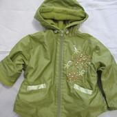 Куртка деми, сост. новой, 86-92 см, флис, для девочки, п-во Польша