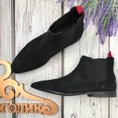 Классические ботинки челси Asos из натуральной замши на тонкой подошве  SH3416