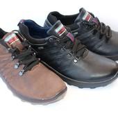 Отличные демисезонные кроссовки кожаные, 3 цвета