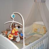 Балдахин,защита на кроватку и держатель балдахина