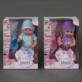 Кукла Пупс 38см Baby Doll функциональный с аксессуарами yl1710d аналог baby born