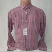 Мужская рубашка в клетку с длинным рукавом Kiabi.