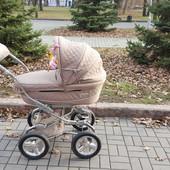 Универсальная коляска Bebecar maxi 2 в 1 stilo at crt зима-лето с дождевиком, сумкой,зонтом и сеткой
