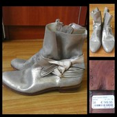 Фирменные кожаные ботинки, размер 38