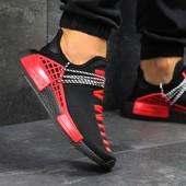 Кроссовки мужские Adidas NMD Human race black/red