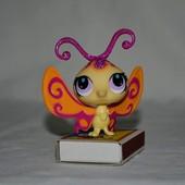 Пет шопы pet shop игрушки зоомагазин Littlest pet shop LPS  редкая бабочка