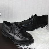 41 26,5см Hush Puppies Кожаные криперы туфли на шнуровке